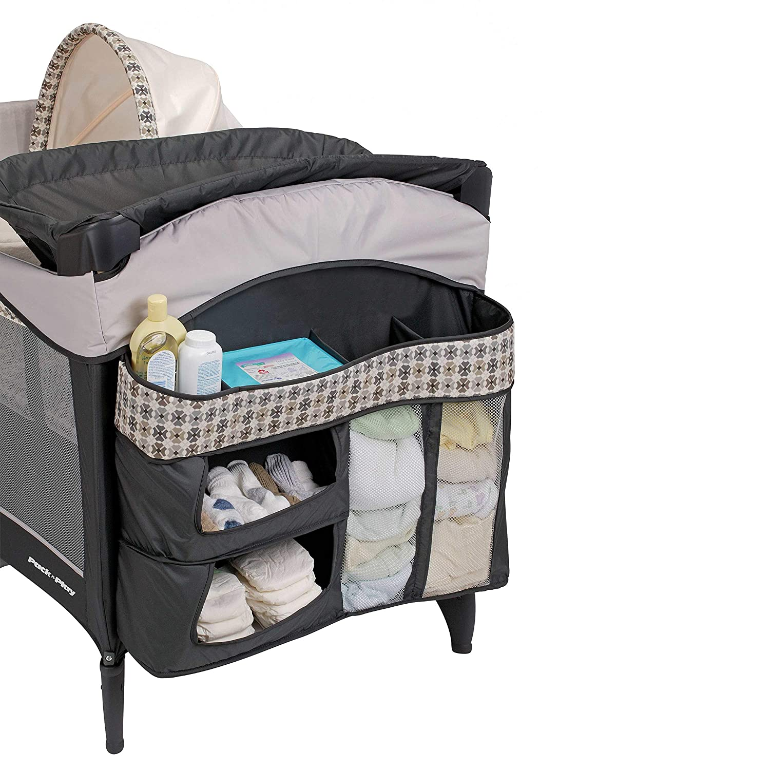 Graco Pack 'n Play Playard   Includes Elite Newborn Napper, Full-Size Infant Bassinet, and Diaper Changer, Vance