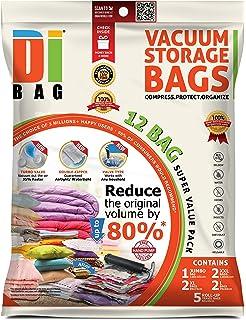 369659403dcf DIBAG - Housses de rangement sous vide - 12 sacs de voyages pour économiser  de l