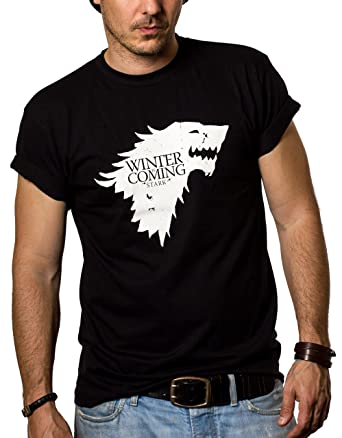 various colors 100% quality huge selection of Winter is Coming Stark T-Shirt Homme Game of Thrones Noir S-XXXL
