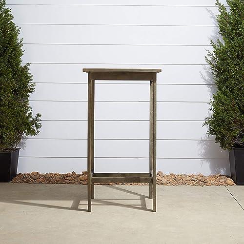 Vifah V1355 Renaissance Outdoor Hand-Scraped Hardwood Bar Table