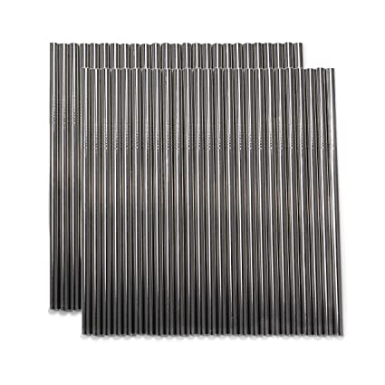 The Big 50 (50-piece 6mm Silver straws set), No Metal Taste, FDA  approved,18/8 stainless steel straws, BPA-Free, Straws in bulk, Reusable  Stainless