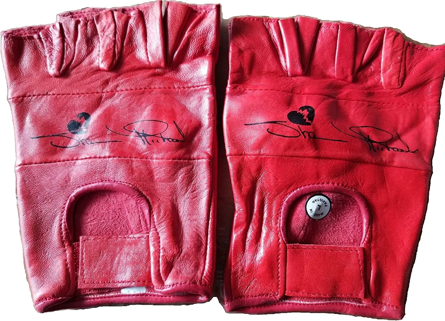 WWF The Heartbreak Kid Shawn Michaels Red Leather Gloves WWE HBK Size small