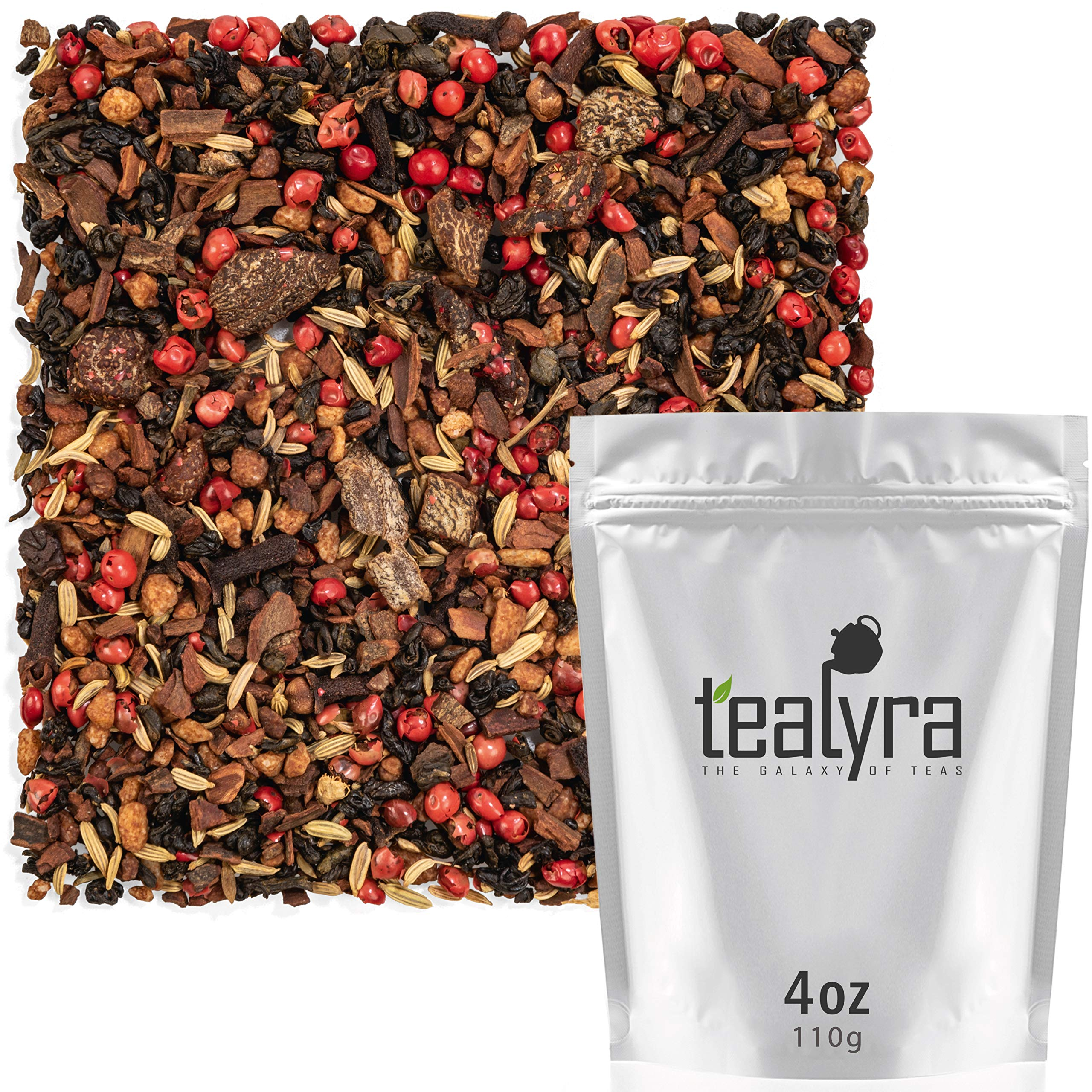 Tealyra - Cinnamon Sweet Apricot Chai - Amazing Taste Green Loose Leaf Tea - Sweet and Spicy - High Antioxidants - Vitamins and Antioxidants Rich - Low Caffeine - All Natural - 112g (4-ounce)