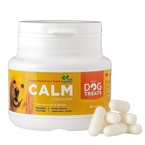 Natural Dog Treats Calmantes para Perros y Gatos, Veterinario Aprobado, Relajante para Estrés, Ansiedad por Separación, Viajes y Ruidos Fuertes, 60 ...