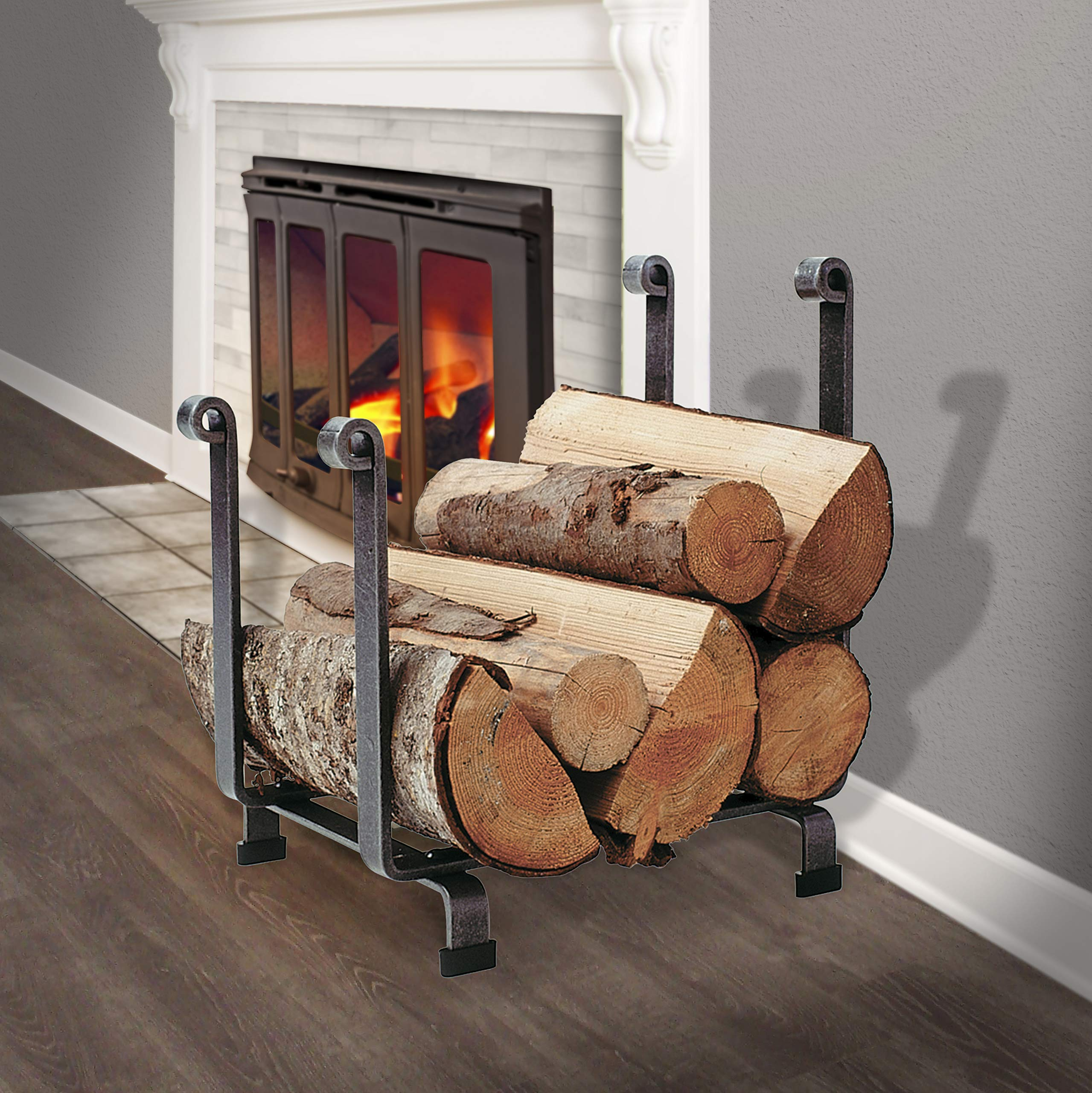Enclume Hearth Log Rack, Hammered Steel by Enclume Hearth