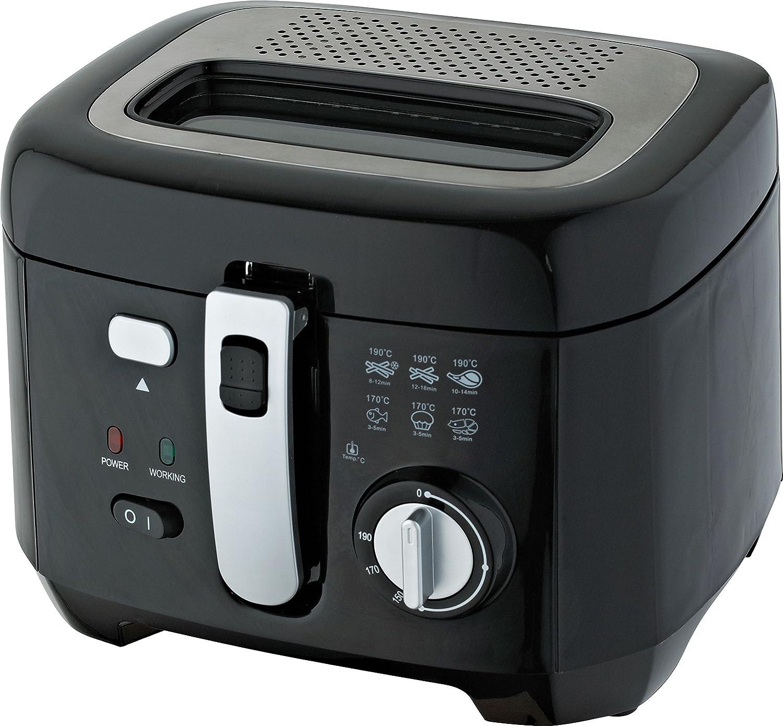 Comelec FR 3004 D - Freidora (2,5 L, Negro, Plata, Giratorio ...