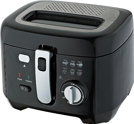 Comelec FR 3004 D - Freidora (2,5 L, Negro, Plata,
