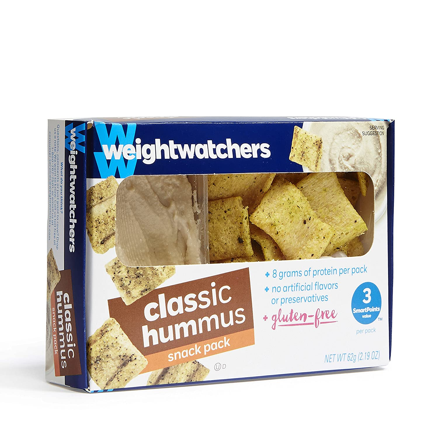 Weight Watchers Hummus Snack Packs, Roasted Red Pepper (Pack of 6):  Amazon.com: Grocery & Gourmet Food