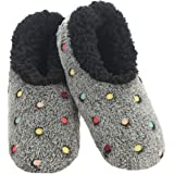 Snoozies Slippers for Women | Lotsa Dots Colorful Cozy Sherpa Slipper Socks | Womens House Slippers | Cozy Slippers for…