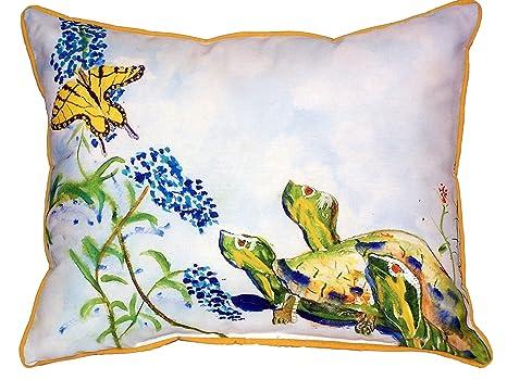 Amazon.com: BETSY Drake Tortugas y mariposas Indoor/Outdoor ...