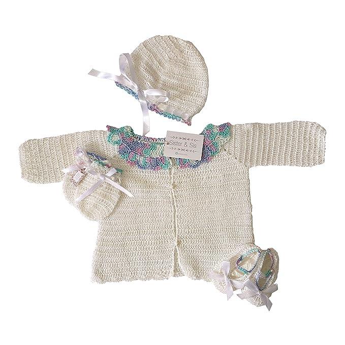 Amazon.com: Sister & Sis, traje de ganchillo para bebé ...