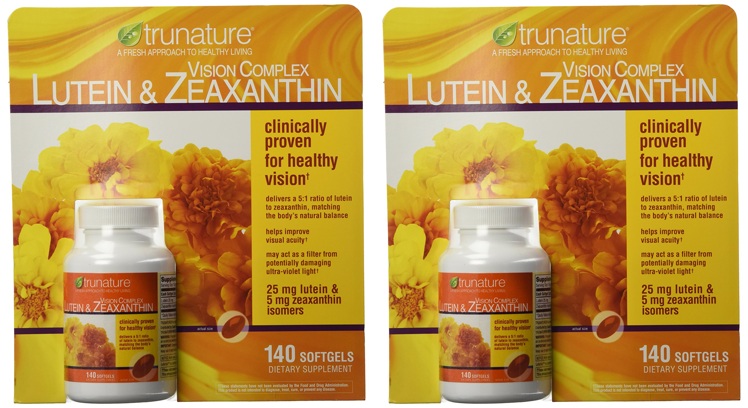 TruNature Vision Complex with Lutein & Zeaxanthin - Great Value Pack of 2 (Total 280Ct Softgel Type) xnccswa by TruNature