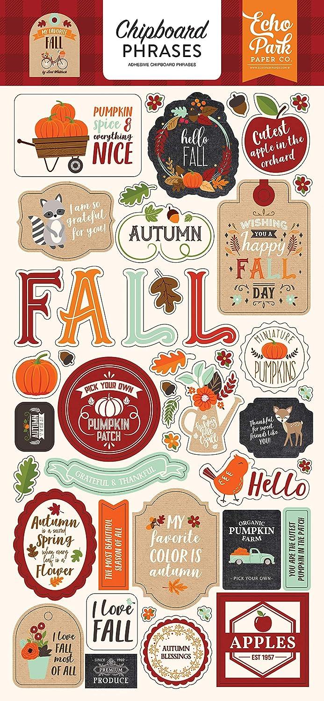 Carta Bella Paper FALL BREAK Decorative Brads plus 4 Chipboards Autumn