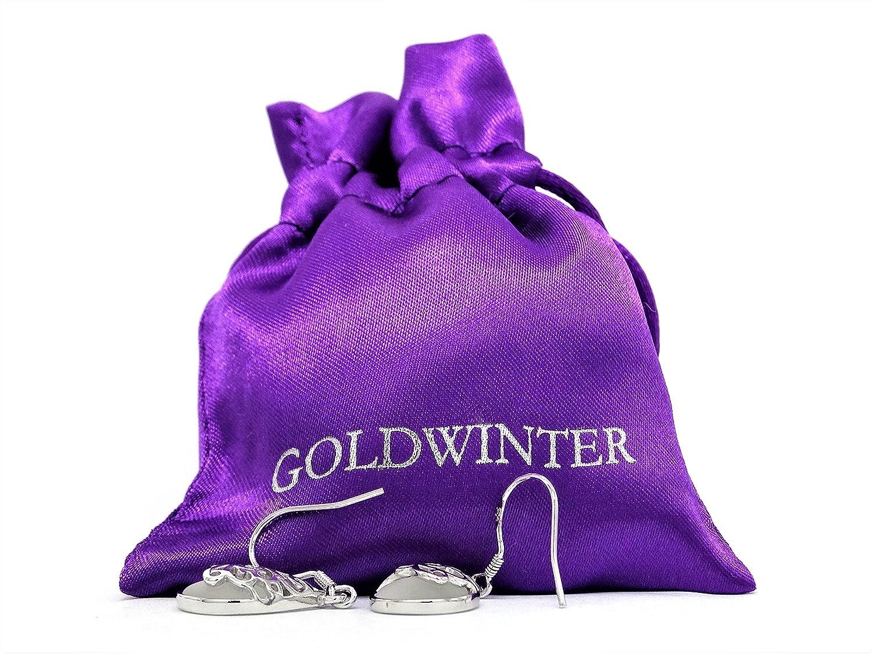 fermoir et cha/îne /à maille serpent en argent sterling Collier et boucles doreilles orn/és de pierre de lune sac cadeau violet et bo/îte /à bijoux noire