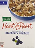 Kashi Heart to Heart Clusters Cereal, Oat Flakes and Blueberry, 13.4 Ounce (Pack of 10)