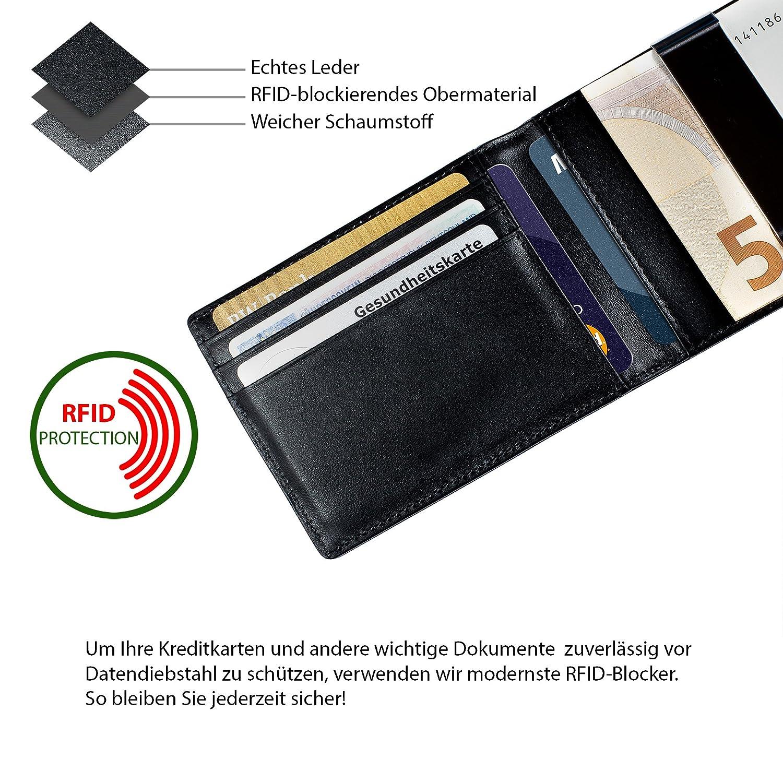 Kreditkartenhalter Kartenetui Schwarz Weiß RFID Geldklammer Kreditkartenhülle