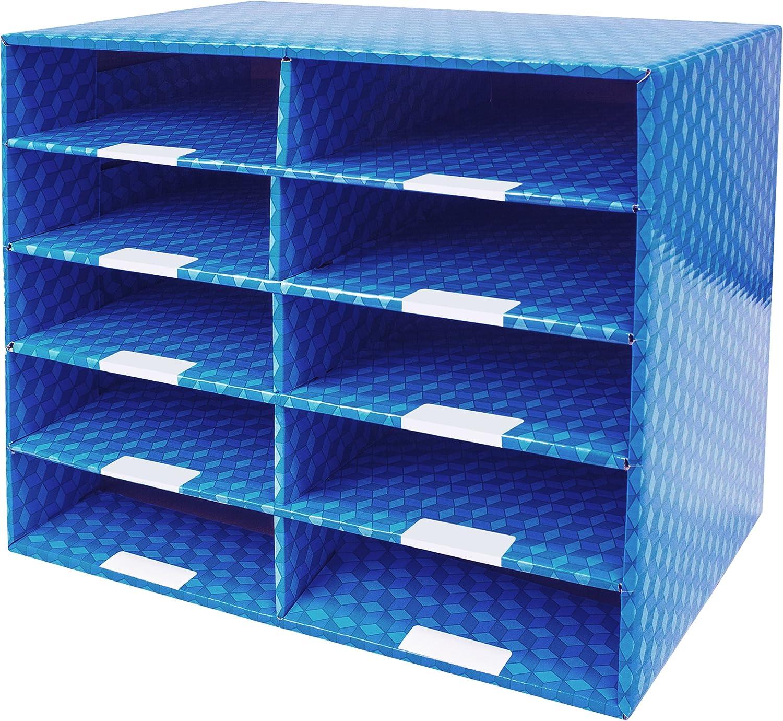 Storex Corrugated Construction Paper Sorter, 15 Slots, 29.2 x 13 x 9.5, Green 29.2 x 13 x 9.5 Storex Industries Corp. 80402U01C