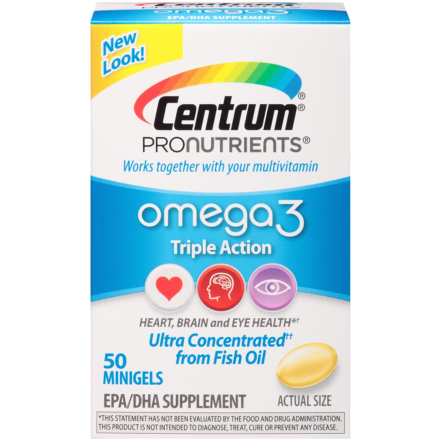 Centrum ProNutrients Omega-3 Triple-Action Concentrated Fish Oil (50-Count MiniGels): Amazon.es: Salud y cuidado personal