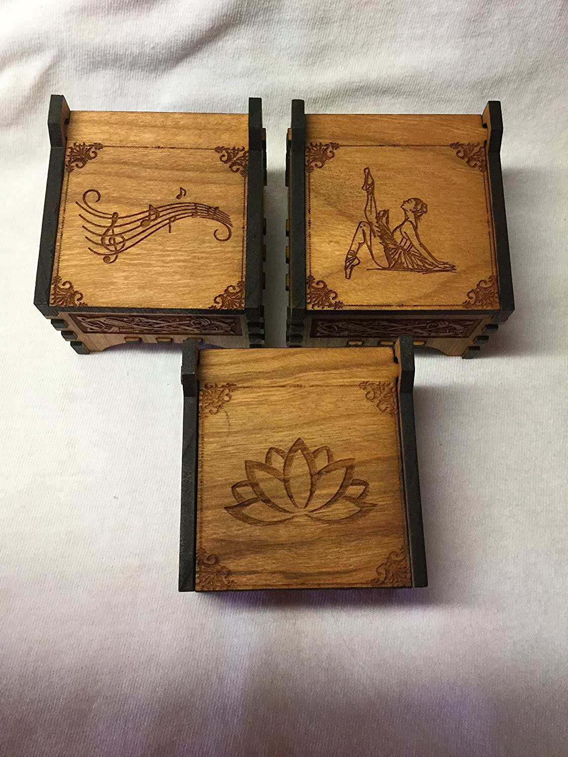 Trinket Boxes: Angels,Footprints,Footprints w/wing,Cross,Music Notes,Dancer,Lotus,Daughter,Paw,Sun,Lady Bug, Owl,Turtle,Dragonfly,Butterfly
