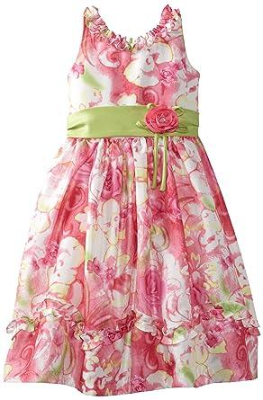 b48ec756236 Amazon.com  Jayne Copeland Big Girls  Floral Watercolor Print Dress ...