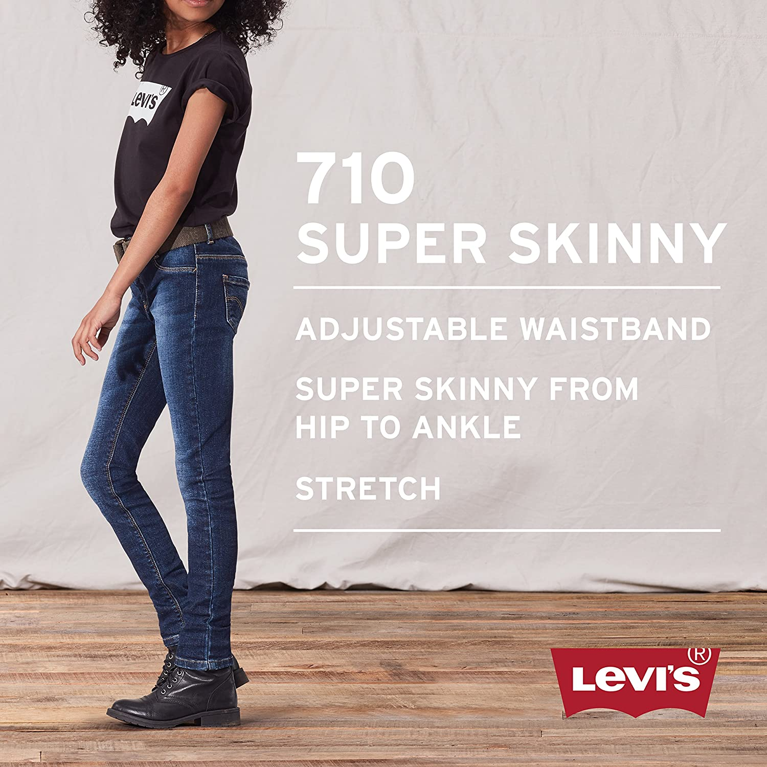 f6ace34b Amazon.com: Levi's Girls' 710 Super Skinny Fit Performance Jeans: Clothing