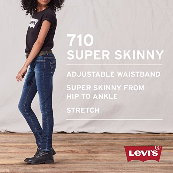 0edd91a2 Amazon.com: Levi's Big Girls' 710 Super Skinny Fit Classic Jeans, Wave 10:  Clothing