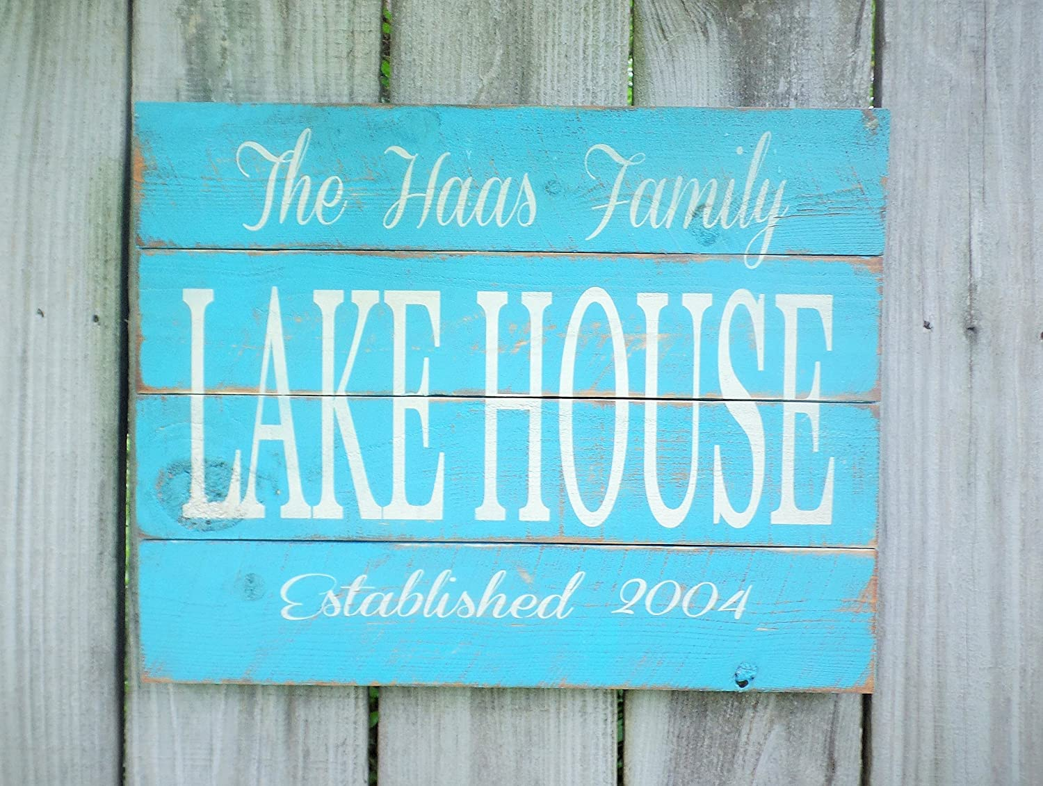 Personalized Lake House Sign Pallet Sign Lake Sign Wood Family Name Established Date Wall Art Outdoor 18\
