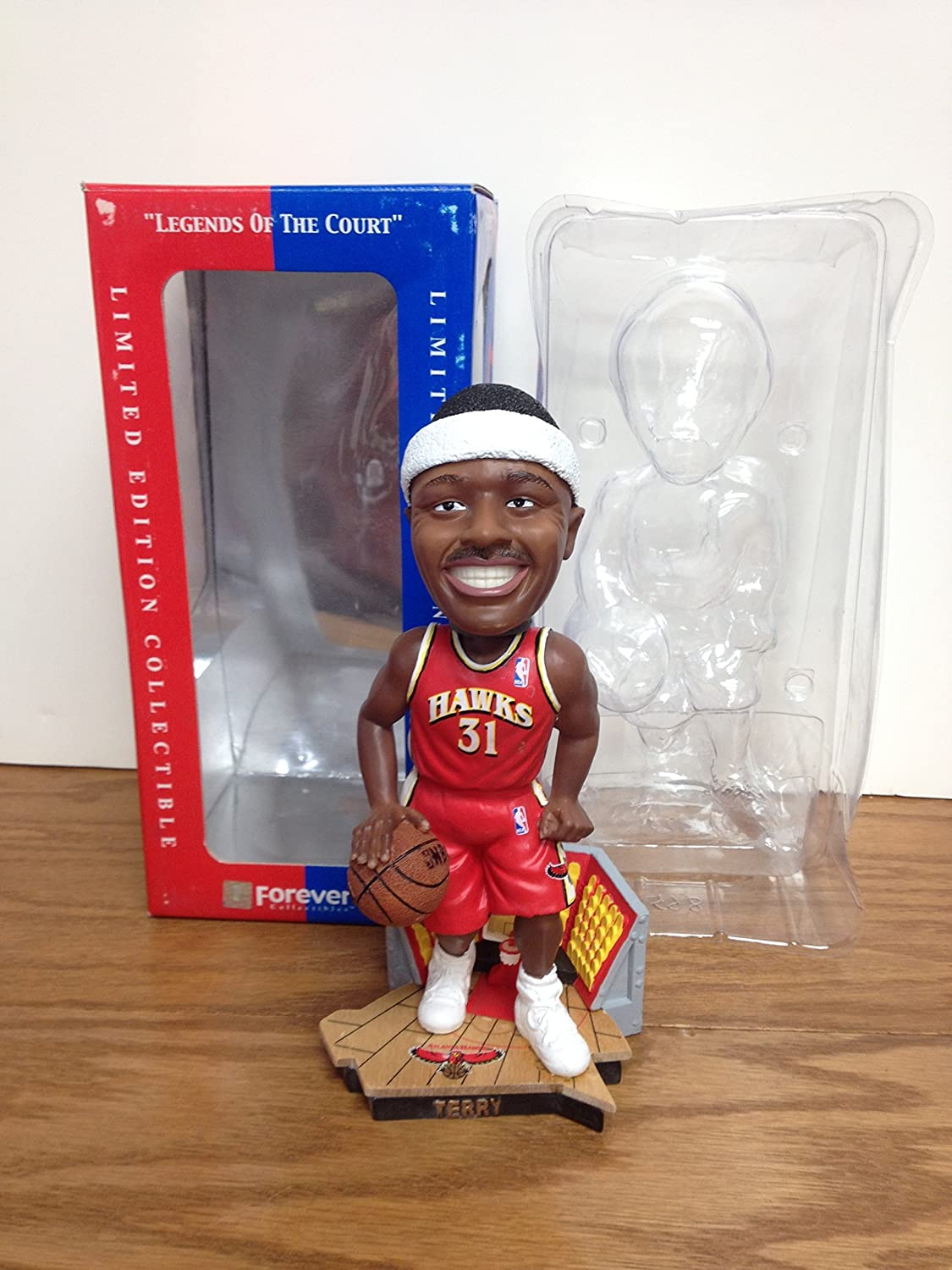 JASON TERRY 'THE HAWK' Legends of the Court ATLANTA HAWKS NBA Bobblehead Bobble Forever