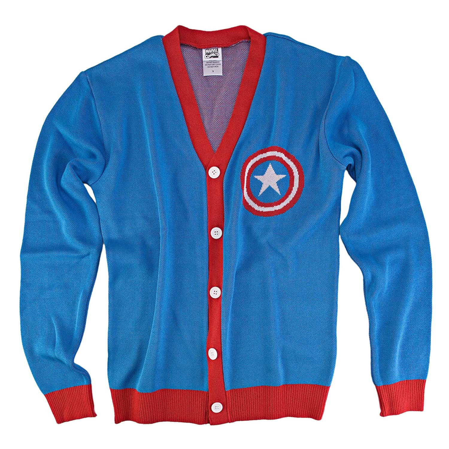 S Marvel Captain America Button Up Cardigan Sweater