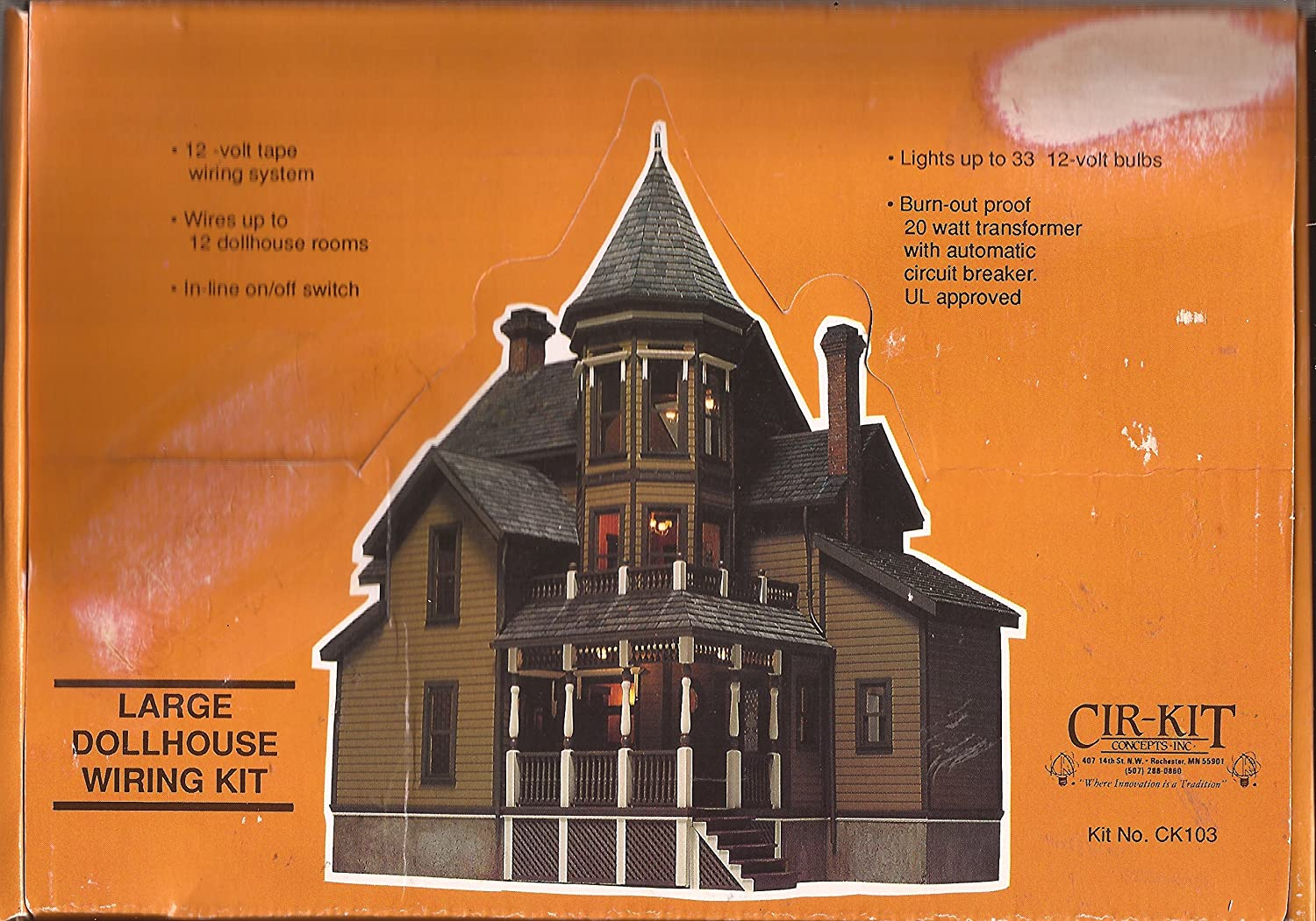 amazon com: dollhouse cir-kit large house wiring kit--up to 33 bulbs: toys  & games