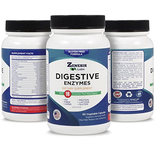 Amazon.com: Enzimas digestivas, con amylase, bromelain ...