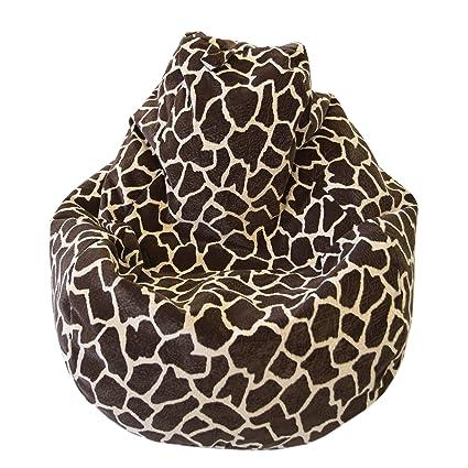 amazon com large animal print micro suede bean bag color size