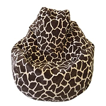 Excellent Large Animal Print Micro Suede Bean Bag Color Size Large Giraffe Ocoug Best Dining Table And Chair Ideas Images Ocougorg