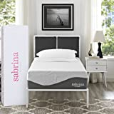 "Modway Sabrina Premium 12"" Latex Air Gel Cooling Memory Foam Twin Mattress with CertiPUR-US Certified Foam - Luxury Firm Mattress - 10-Year Warranty"
