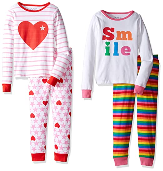 3d9e465d5 The Children s Place Little Girls  2-Piece Cotton Pajamas (Pack of 2 ...