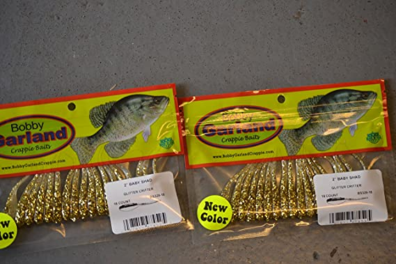 """Details about  /BOBBY GARLAND Crappie Baits The Original Baby Shad 2/"""" Monkey Milk 18 Pack New"""