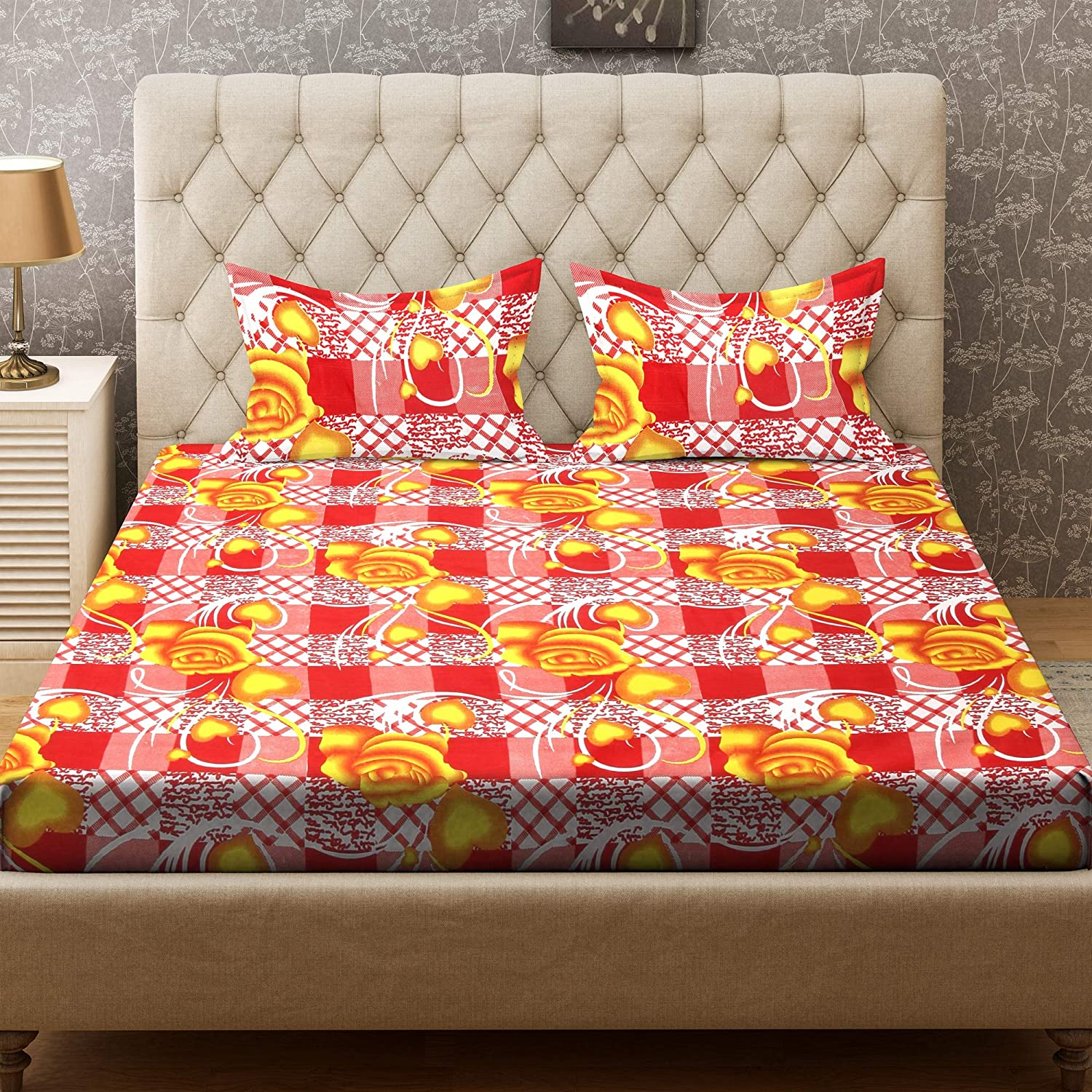 Bombay Dyeing Felix Double Bedsheet with 2 Pillow Covers