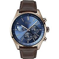 Hugo Boss Heren Chronograaf Kwarts Horloge met lederen armband 1513604