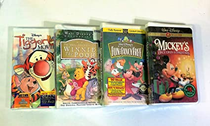 disneys classic set of 4 vhs mickeys once upon a christmas the many - Mickeys Once Upon A Christmas Vhs