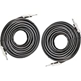 "Ignite Pro 2x 1/4"" to 1/4"" 50 Ft. True 12 Gauge Wire AWG DJ/ Pro Audio Speaker Cable, Pair"