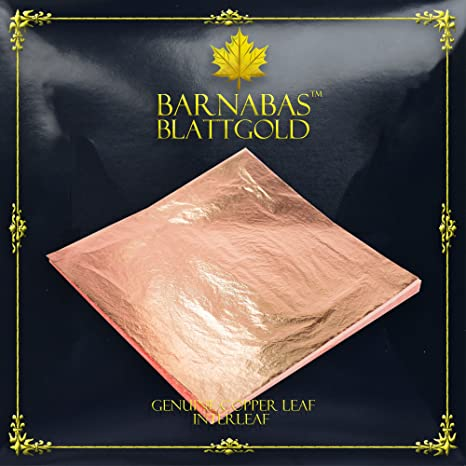 Genuine Silver Leaf Sheets 100 Sheets by Barnabas Blattgold Loose Leaf Interleaf 4.4 inches