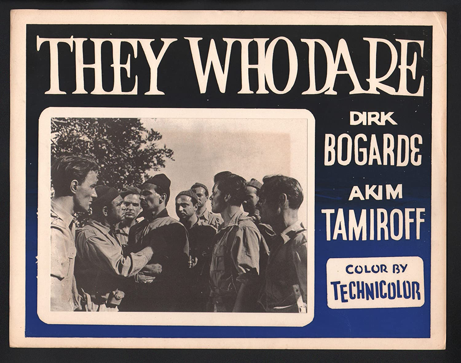 "Amazon.com: MOVIE POSTER: They Who Dare 11""x14"" Lobby Card Akim ..."