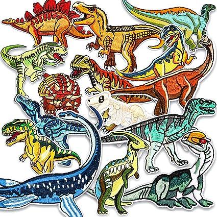 Parche de Ropa, Muscccm 15 Piezas Parches Ropa Termoadhesivos Dinosaurio Bufandas
