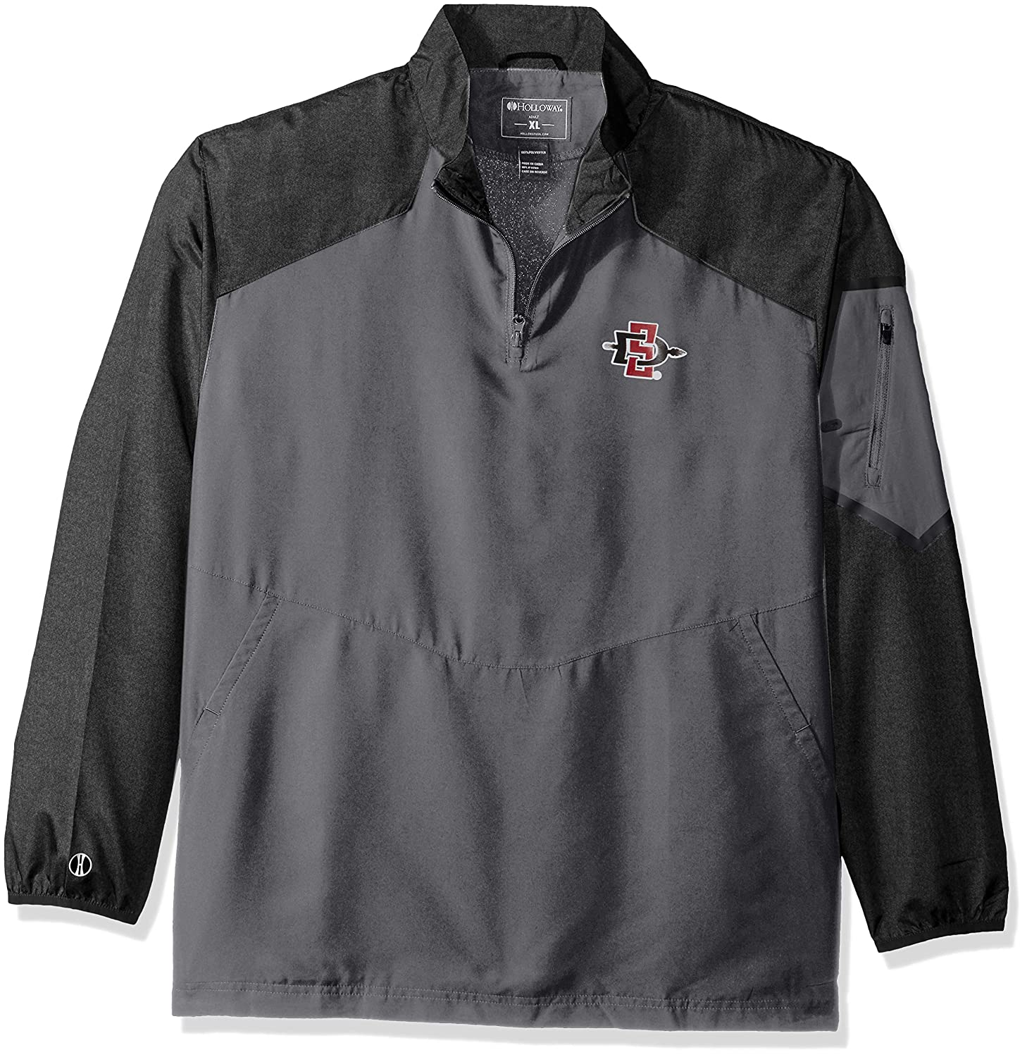 Ouray Sportswear NCAA San Diego State Aztecs Mens Raider Pullover Jacket Carbon Print//Graphite Small