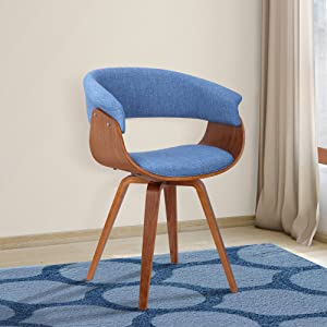 Armen Living LCSUCHBLUE Summer Dining Chair, Blue