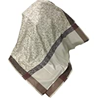Sethssssss Men's Self Paisley Design Polyester Wool Blend Shawl (Multicolour)