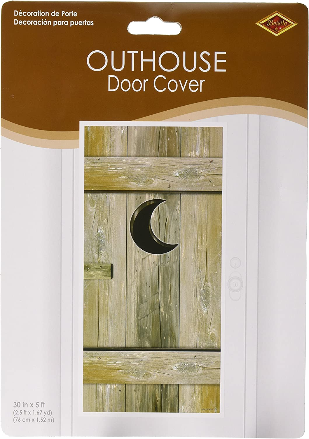 Outhouse Door Cover Party Accessory 1 count 1//Pkg
