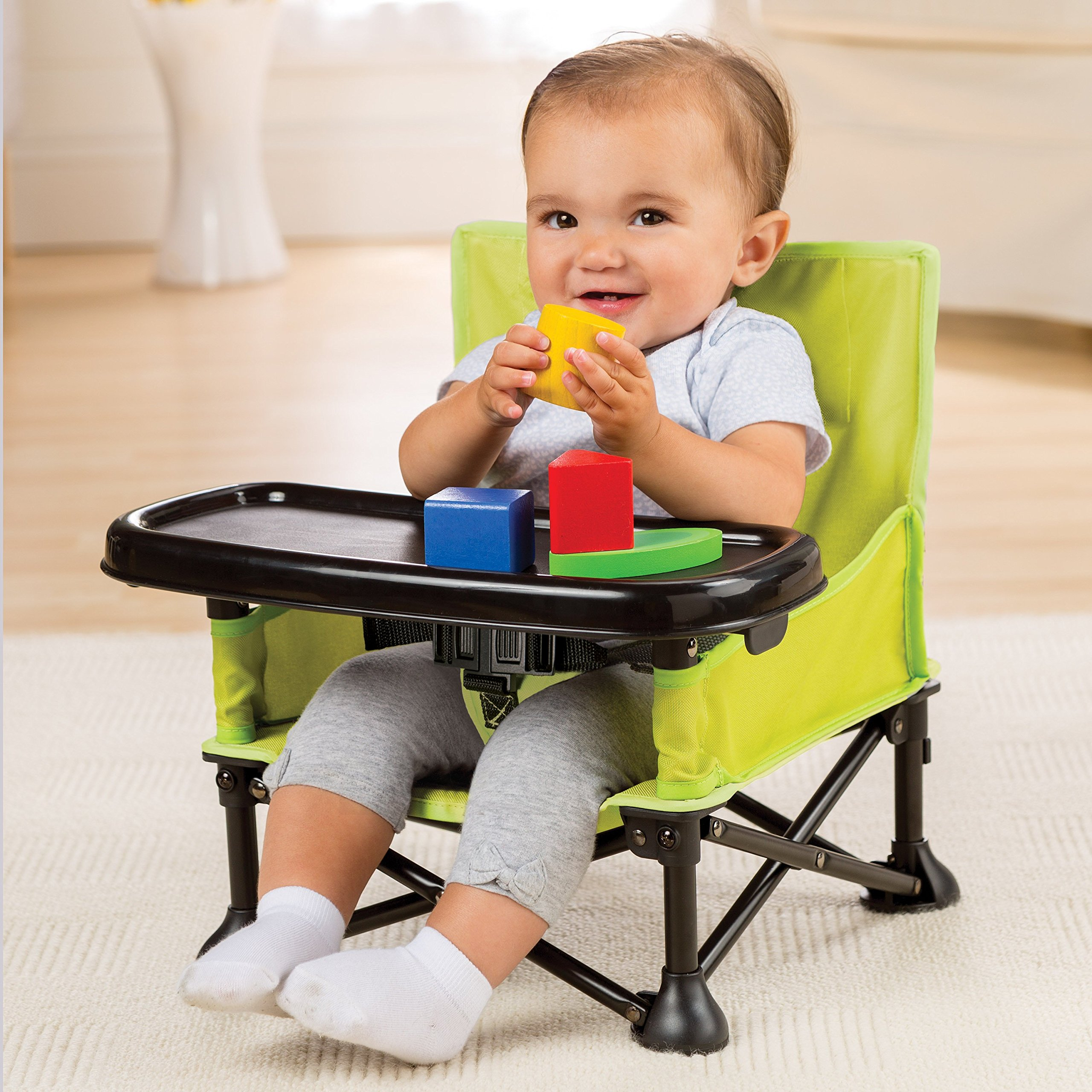 Summer Infant Pop And Sit Portable Booster Green Grey Ebay