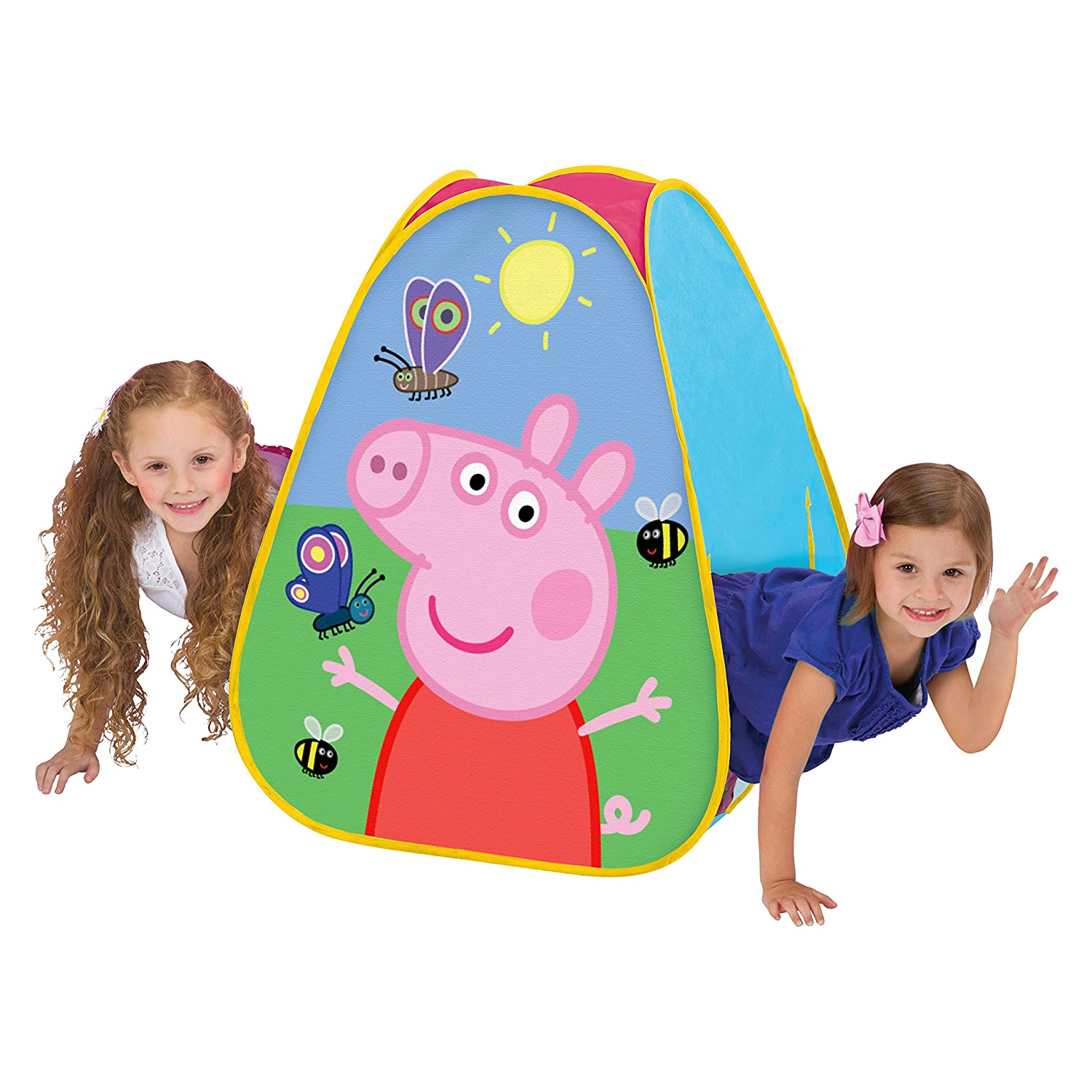 Playhut Peppa Pig Classic Hideaway Playhouse Pink  sc 1 st  Amazon.com & Amazon.com: Peppa Pig Play Hut Tent Tunnel Easy Set Up 4 Feet ...
