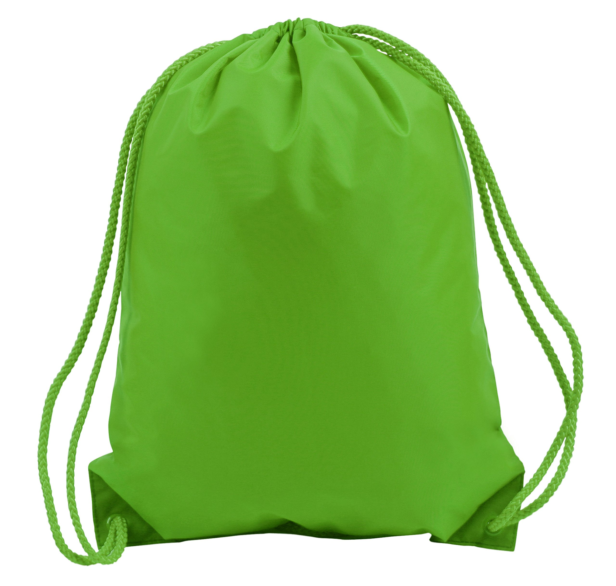 BOSTON DRAWSTRING BACKPACK, Lime Green, Case of 60